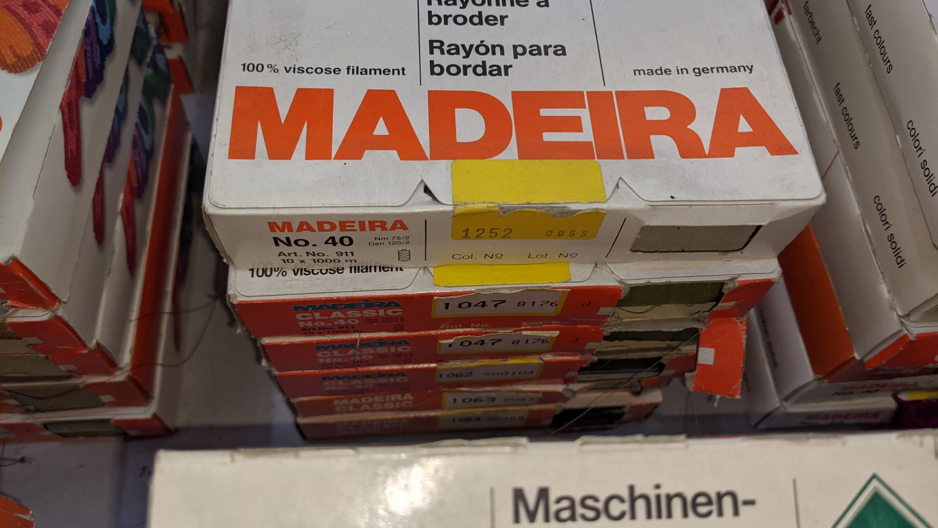 30 boxes of Madeira Classic No. 40 rayon embroidery thread - Image 5 of 12