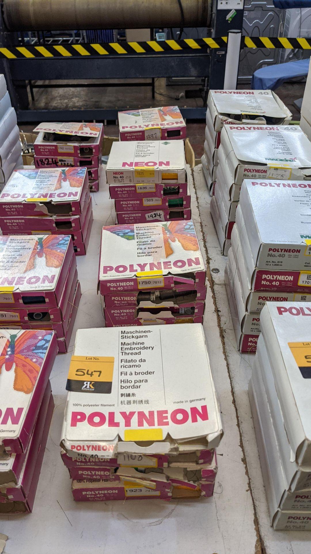 18 boxes of Madeira Polyneon machine embroidery thread