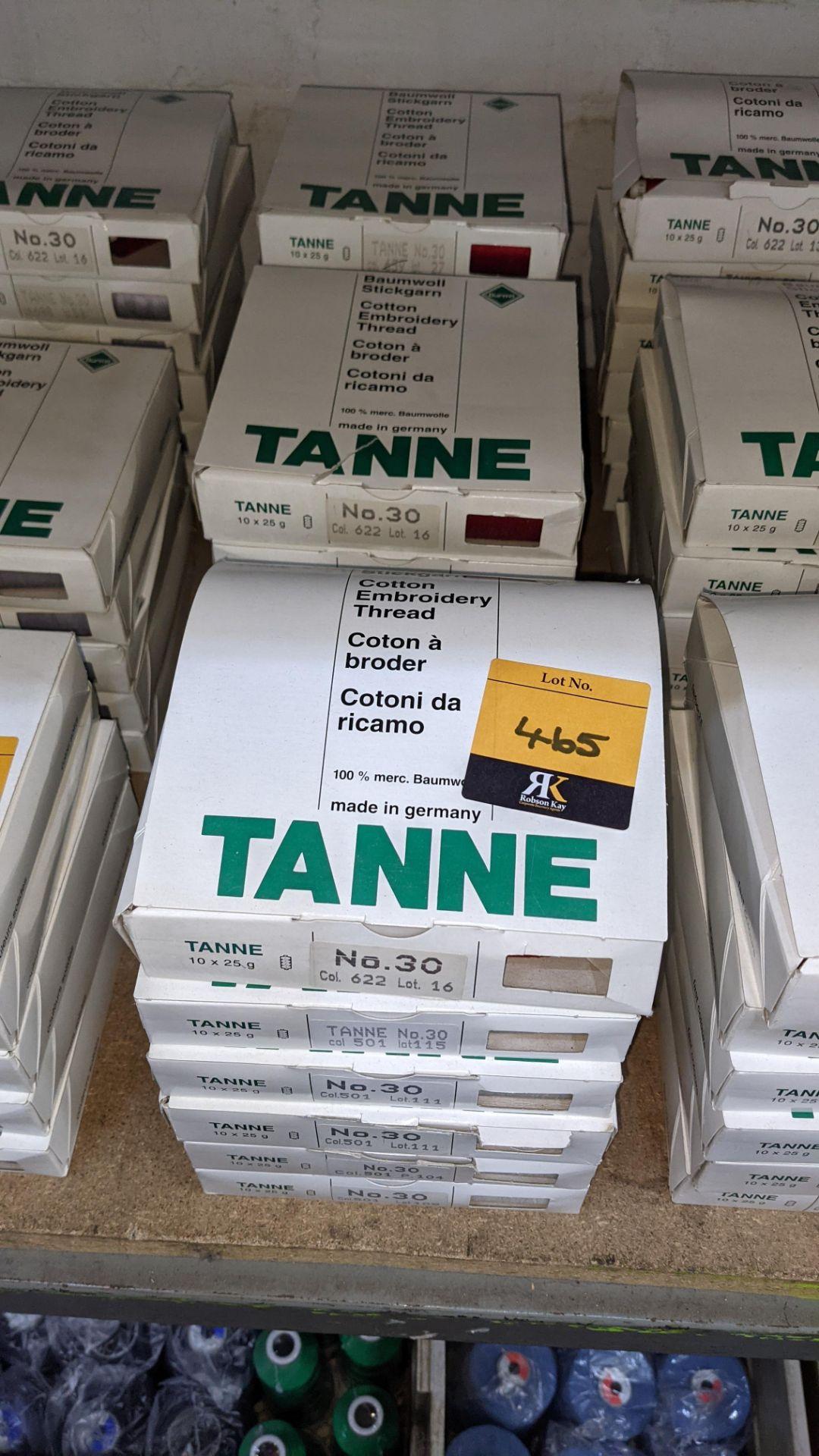 18 boxes of Madeira Tanne (Burmit) cotton embroidery thread