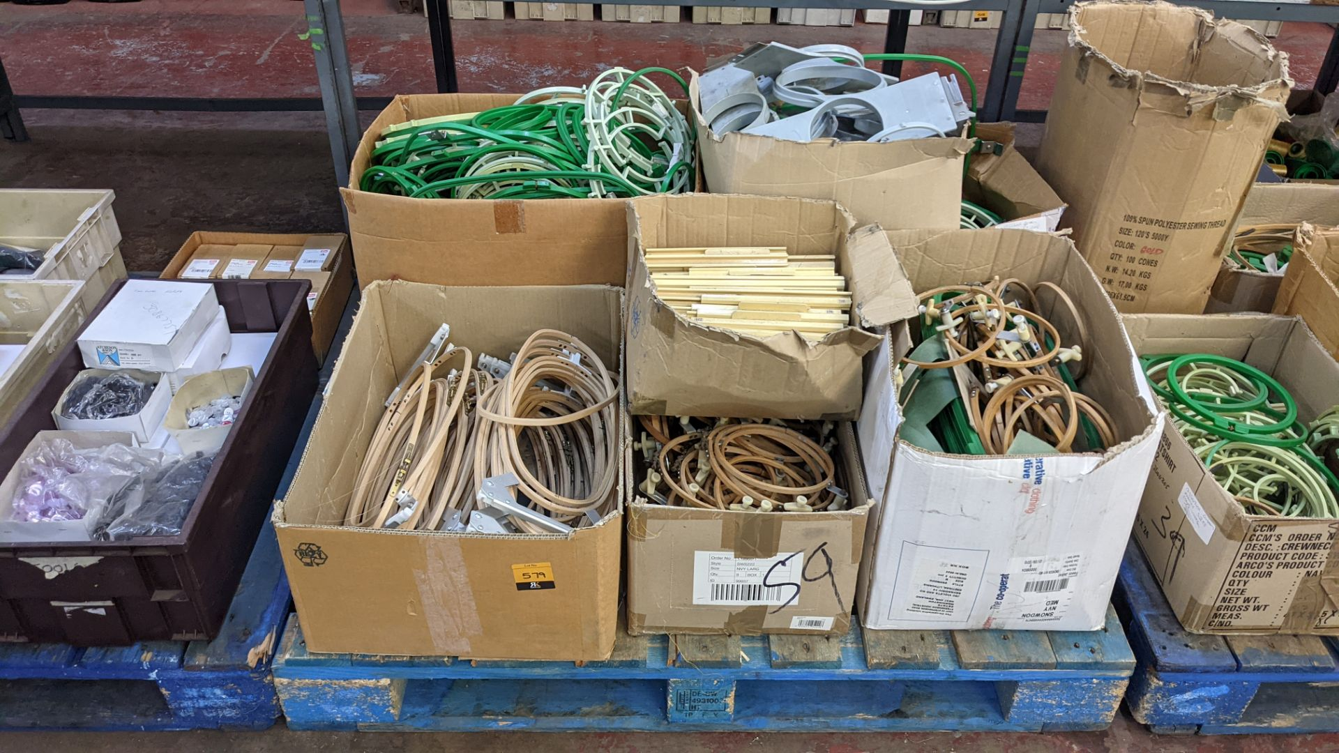 The contents of a pallet of assorted embroidery machine frames & similar - this lot consists of 7 as