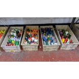 The contents of 4 large crates of assorted thread