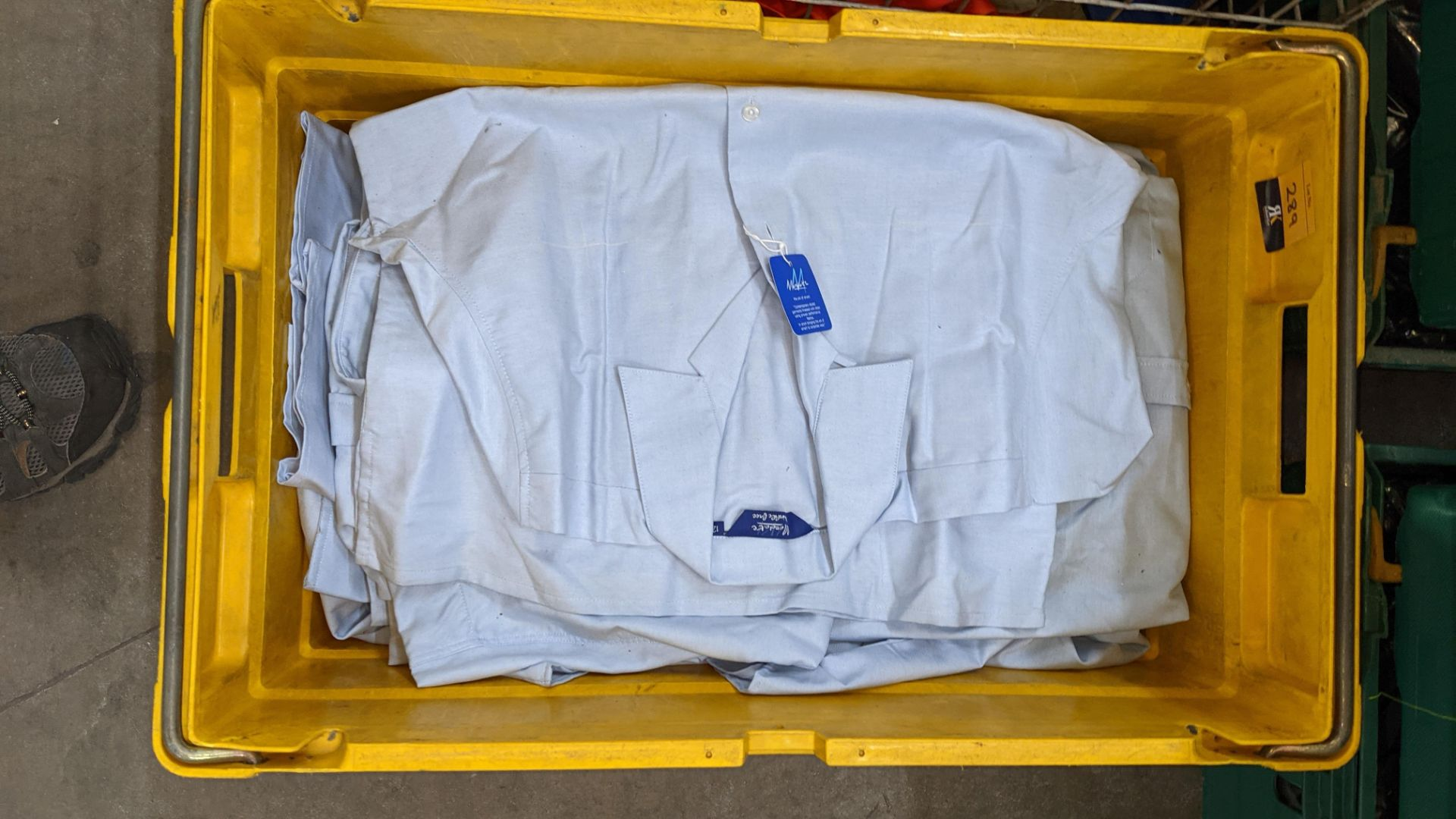 The contents of a crate of sky blue tops. NB crate excluded - Image 2 of 4
