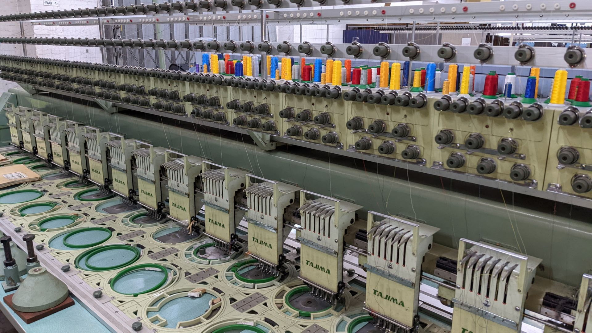 Tokai Tajima electronic 20 head automatic embroidery machine model TMEF-H620 - Image 8 of 25