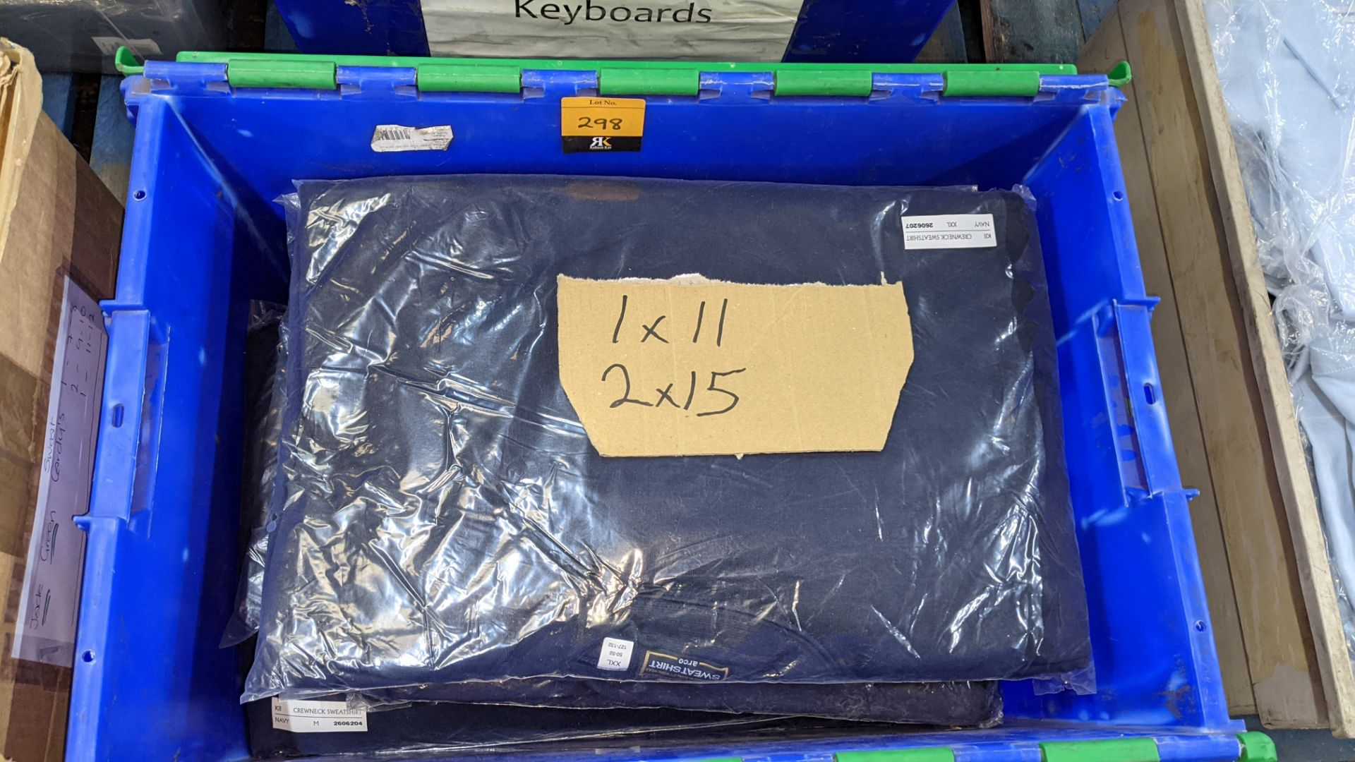11 off workwear blue sweatshirts - the contents of 1 crate. NB crate excluded - Image 2 of 5