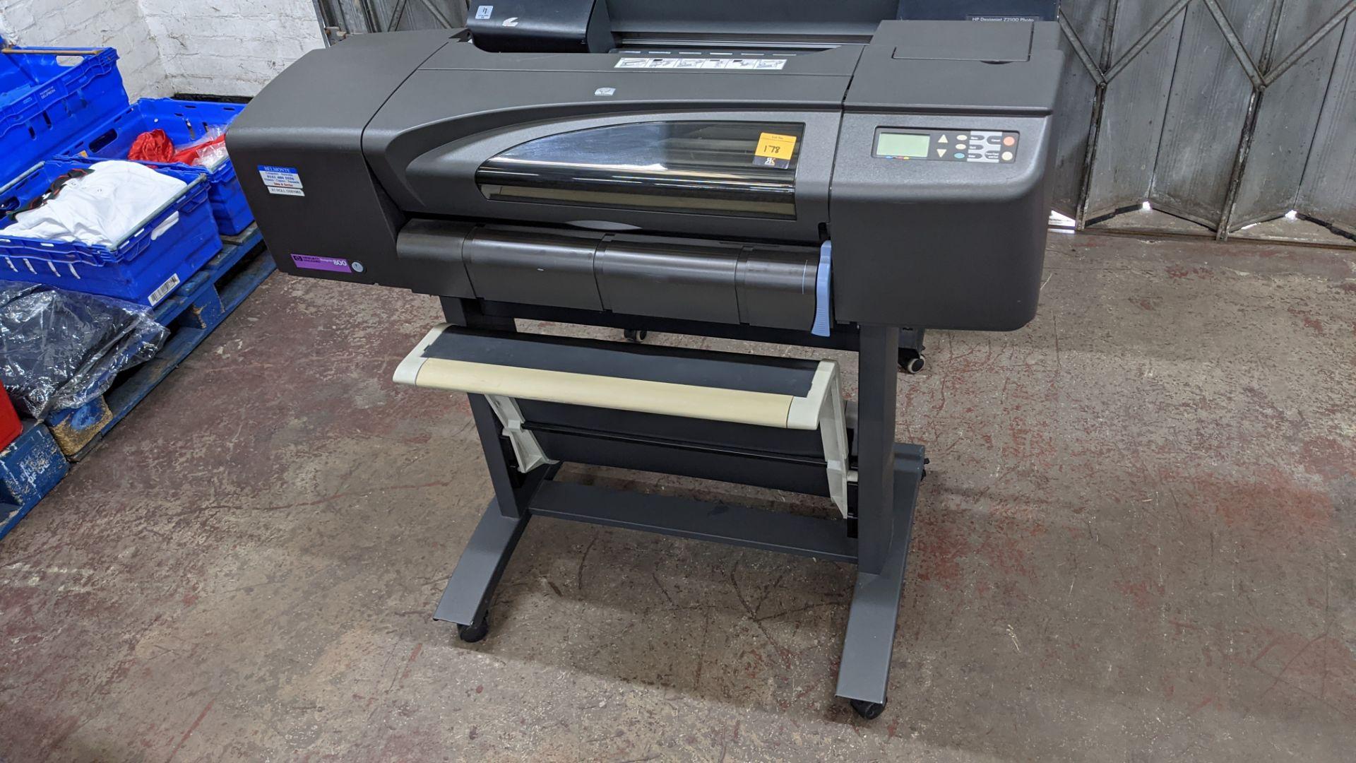 "HP DesignJet 800 wide format printer, factory model C7779B (24"") - Image 2 of 6"