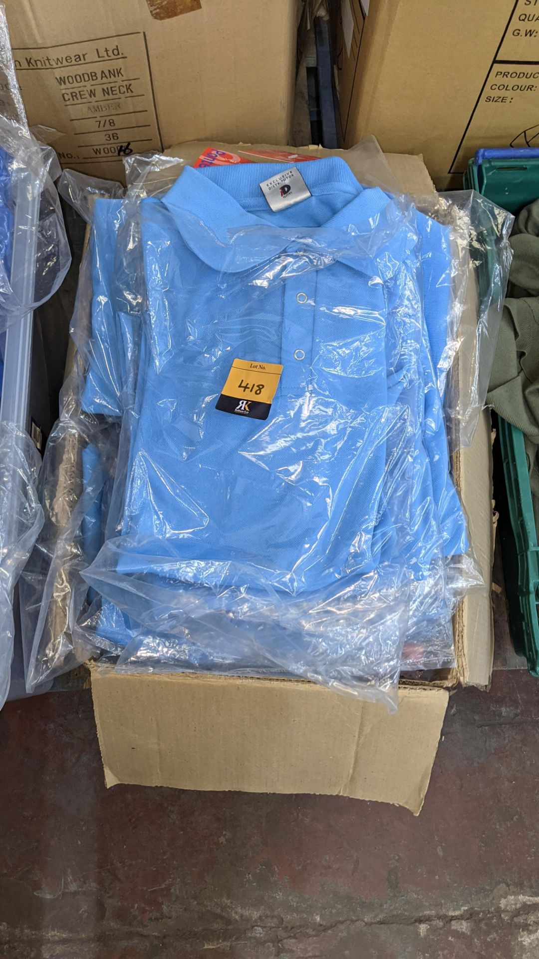 Approx 25 off pale blue polo shirts - Image 3 of 5