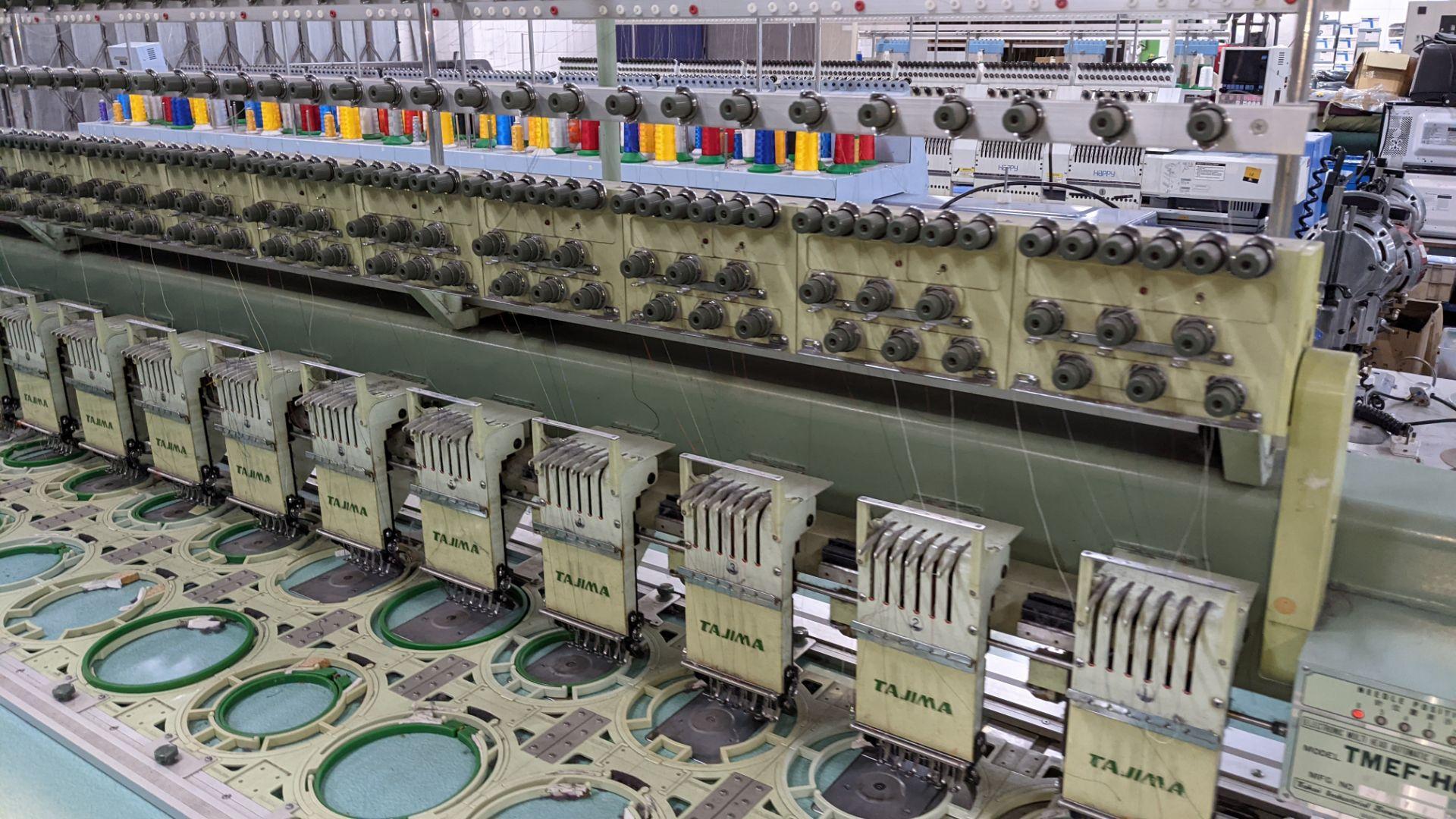 Tokai Tajima electronic 20 head automatic embroidery machine model TMEF-H620 - Image 6 of 25