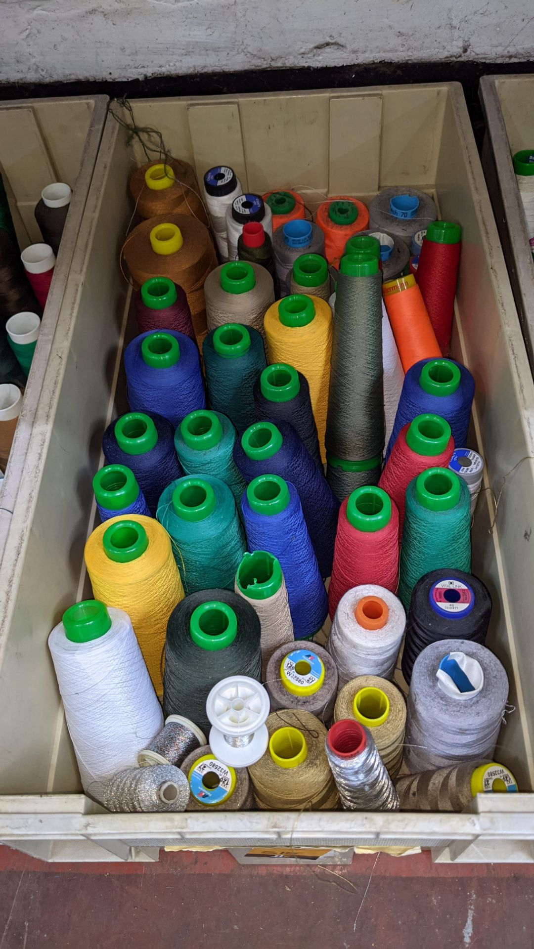 The contents of 4 large crates of assorted thread - Image 2 of 7