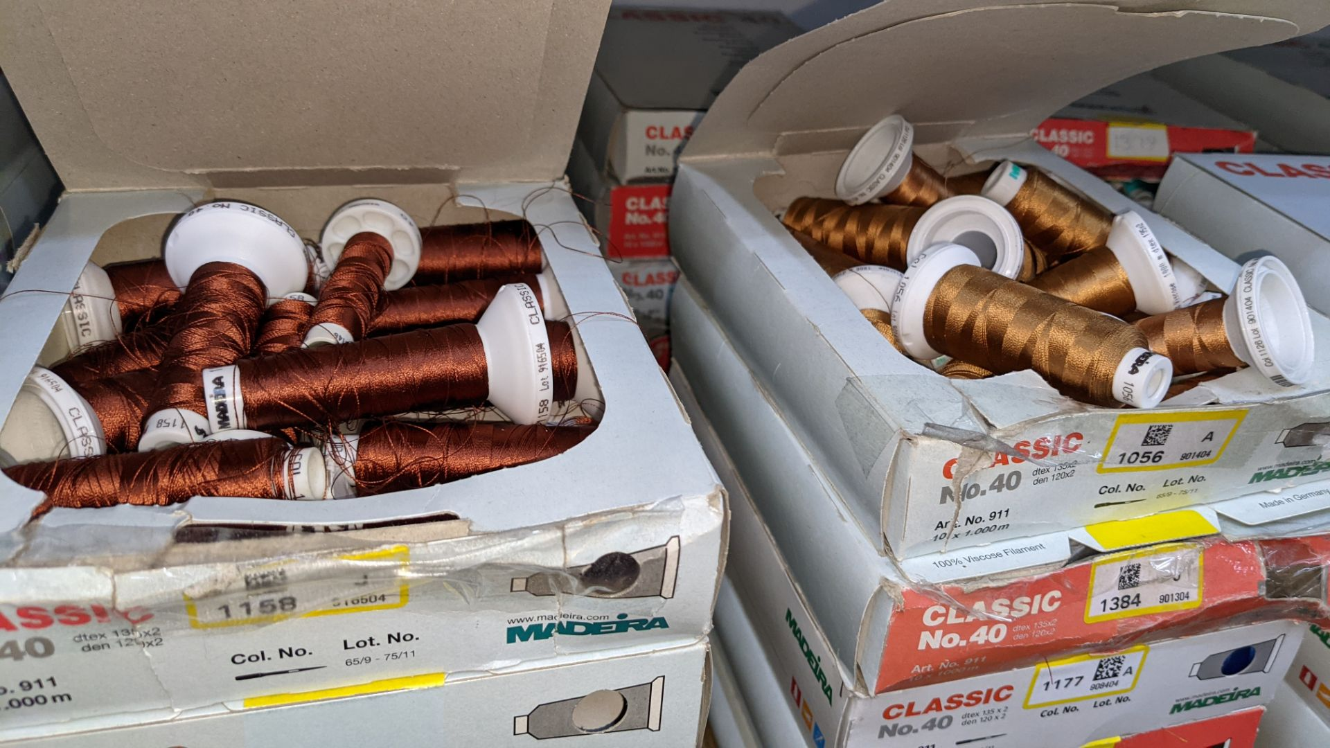 20 assorted boxes of Madeira Classic No. 40 embroidery rayon thread - Image 5 of 8