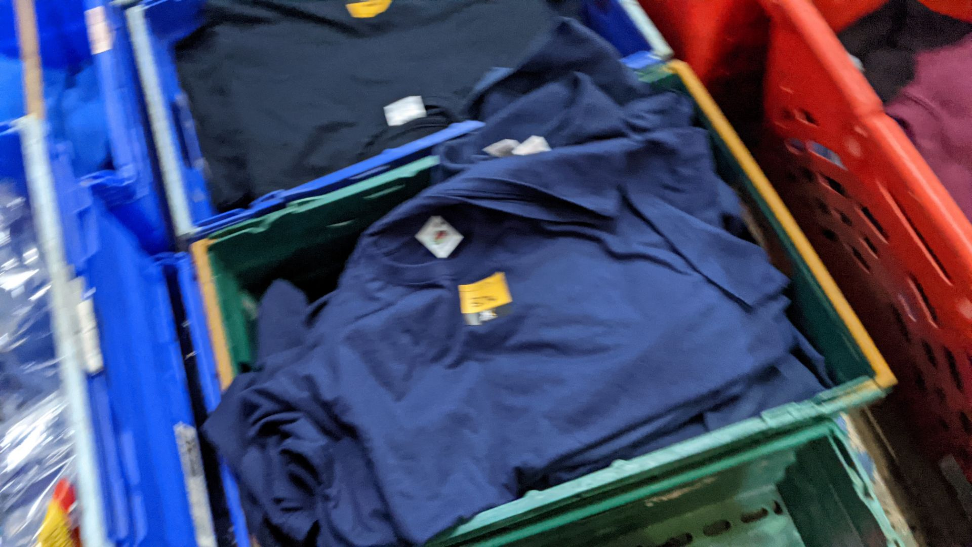 Approx 20 off assorted blue Fruit of the Loom tops comprising sweatshirts, polo shirts & t-shirts - Image 4 of 4