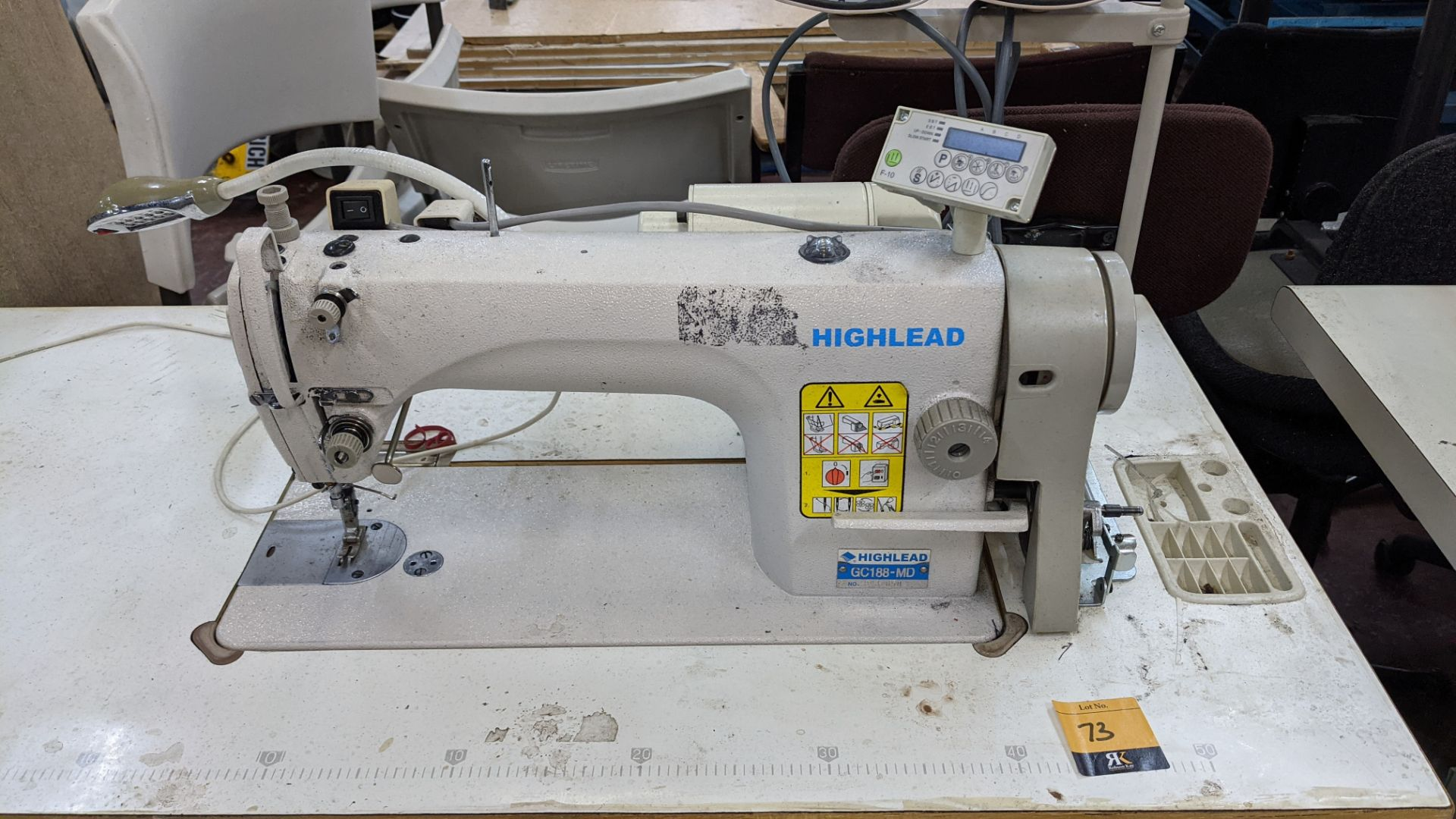 Highlead model GC188-MD sewing machine with model F-10 digital controller - Image 6 of 16