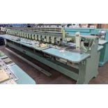 Tokai Tajima electronic 20 head automatic embroidery machine model TMEG-G620, manufacturing number 7