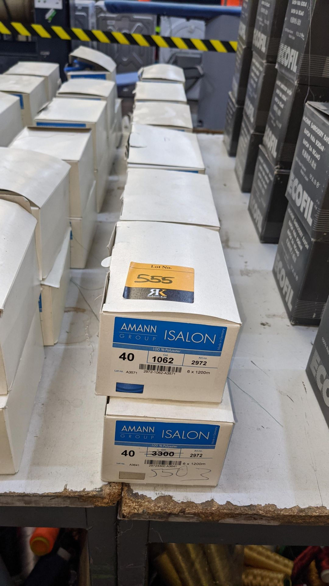 12 boxes of Amann Group ISALON 40 polyester embroidery thread - Image 2 of 9