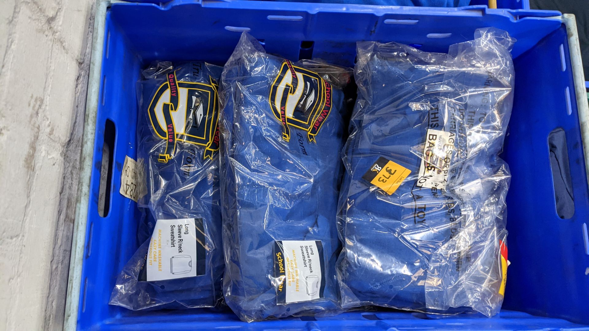 Approx 29 off royal blue children's sweatshirts (2 crates) - Image 4 of 4