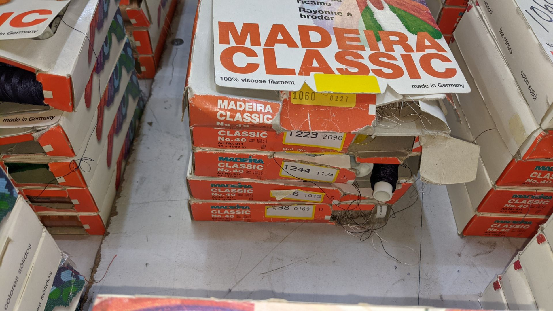 25 boxes of Madeira Classic No. 40 rayon embroidery thread - Image 4 of 12