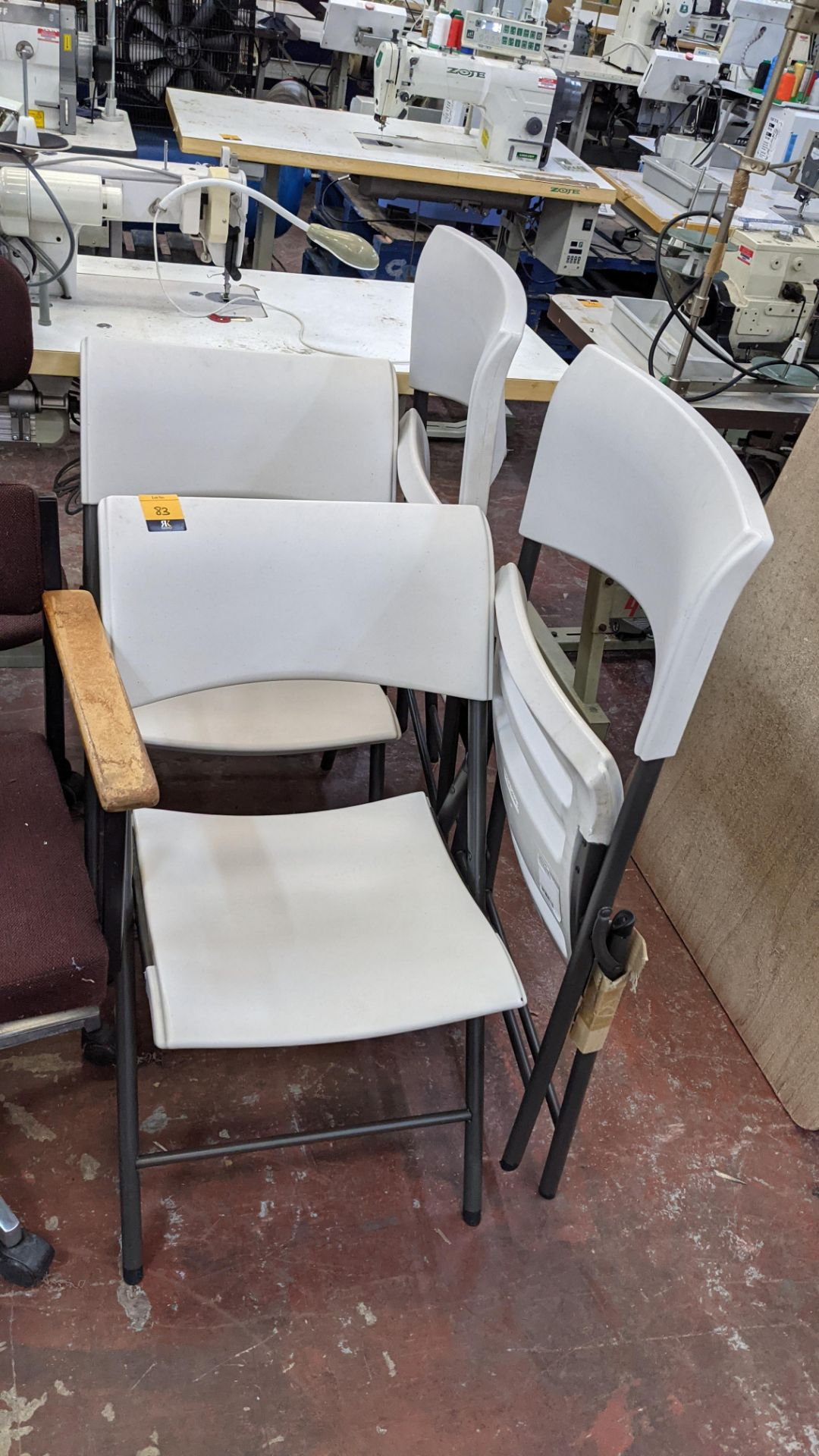 4 off Lifetime folding chairs - Image 2 of 4