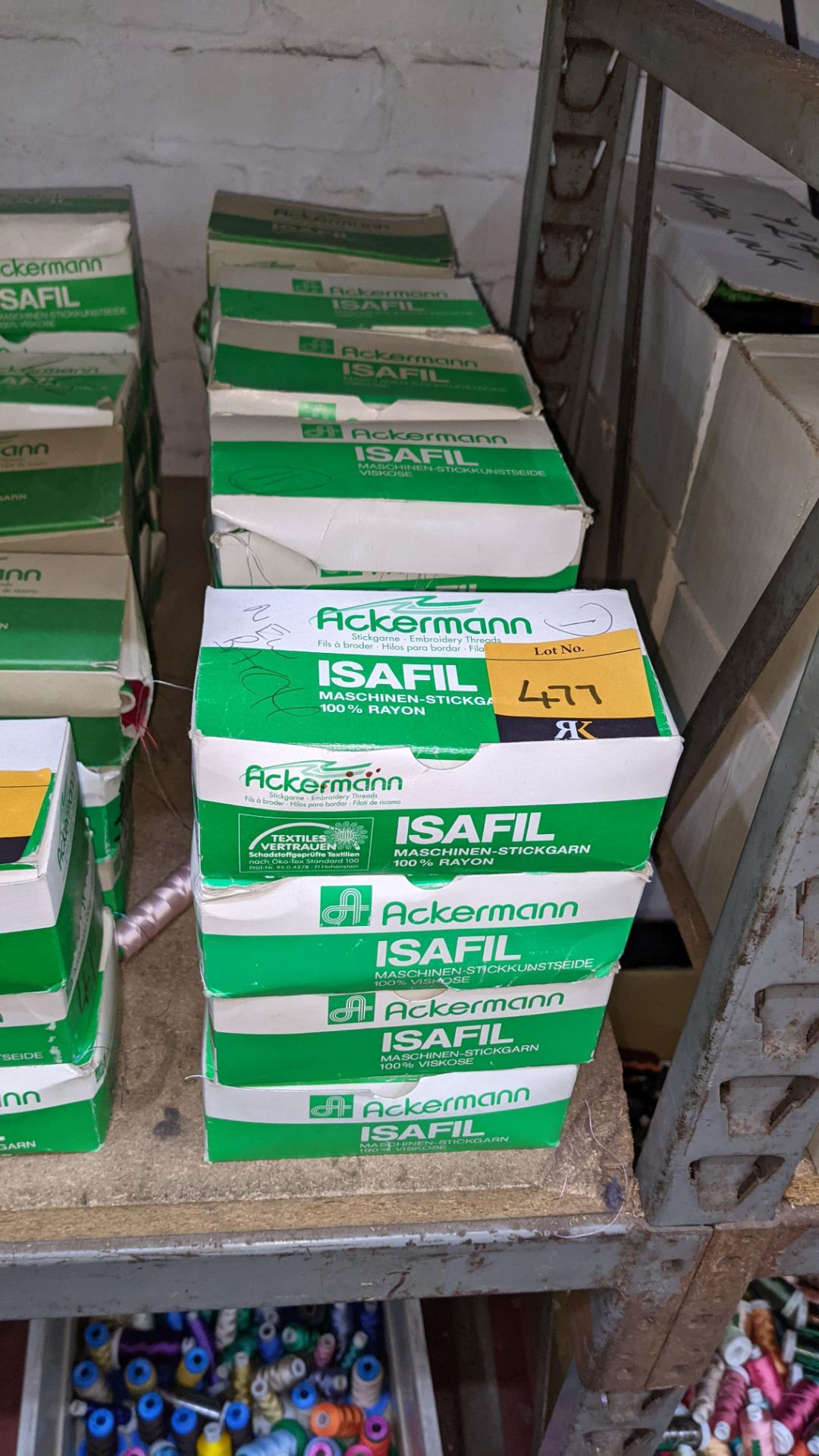20 boxes of Ackermann Isafil viscose/rayon embroidery thread - Image 2 of 9