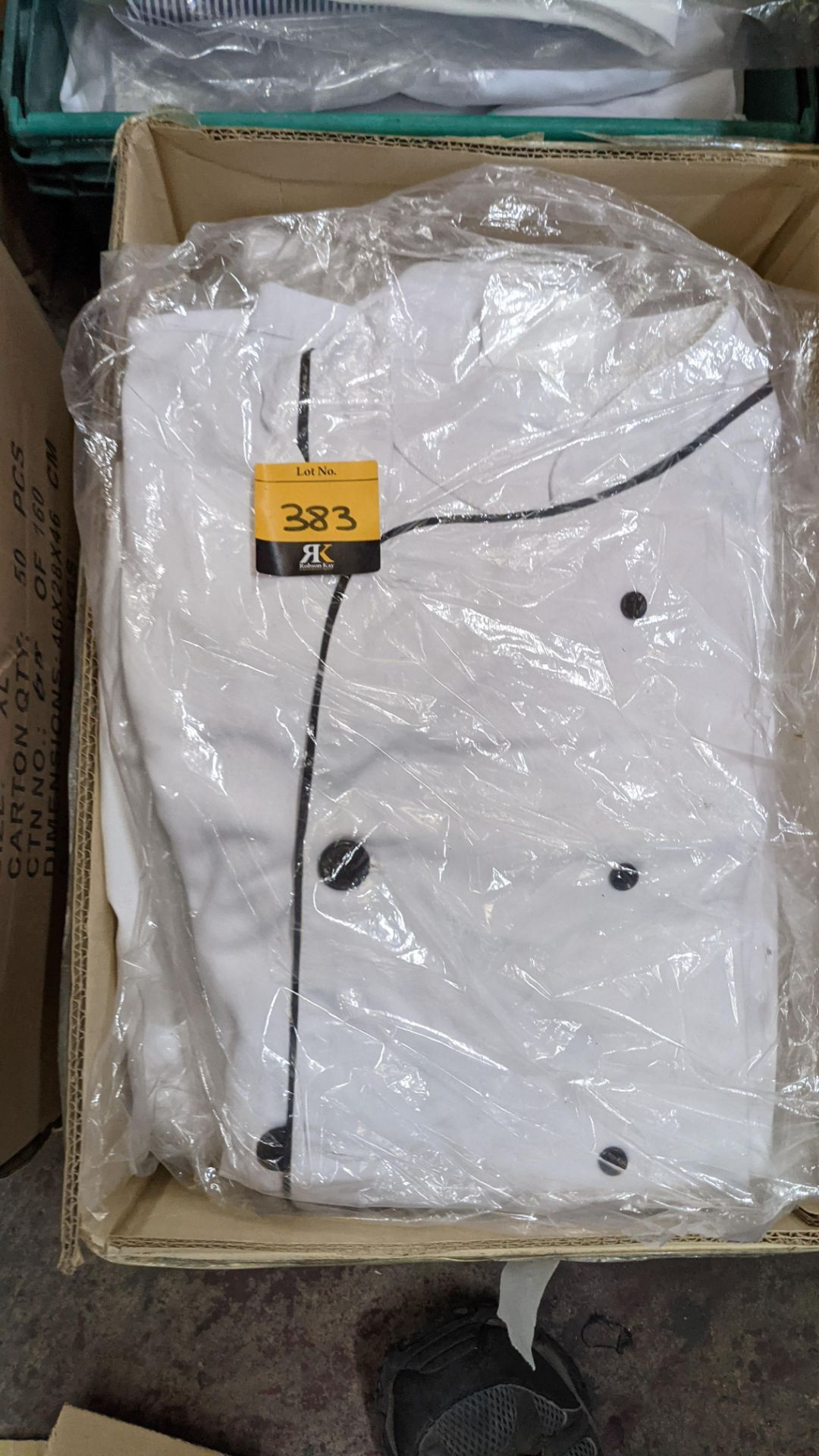 1 box & 1 crate of assorted chefs clothing & similar - Image 6 of 7