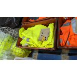 10 off hi-vis trousers in yellow & orange