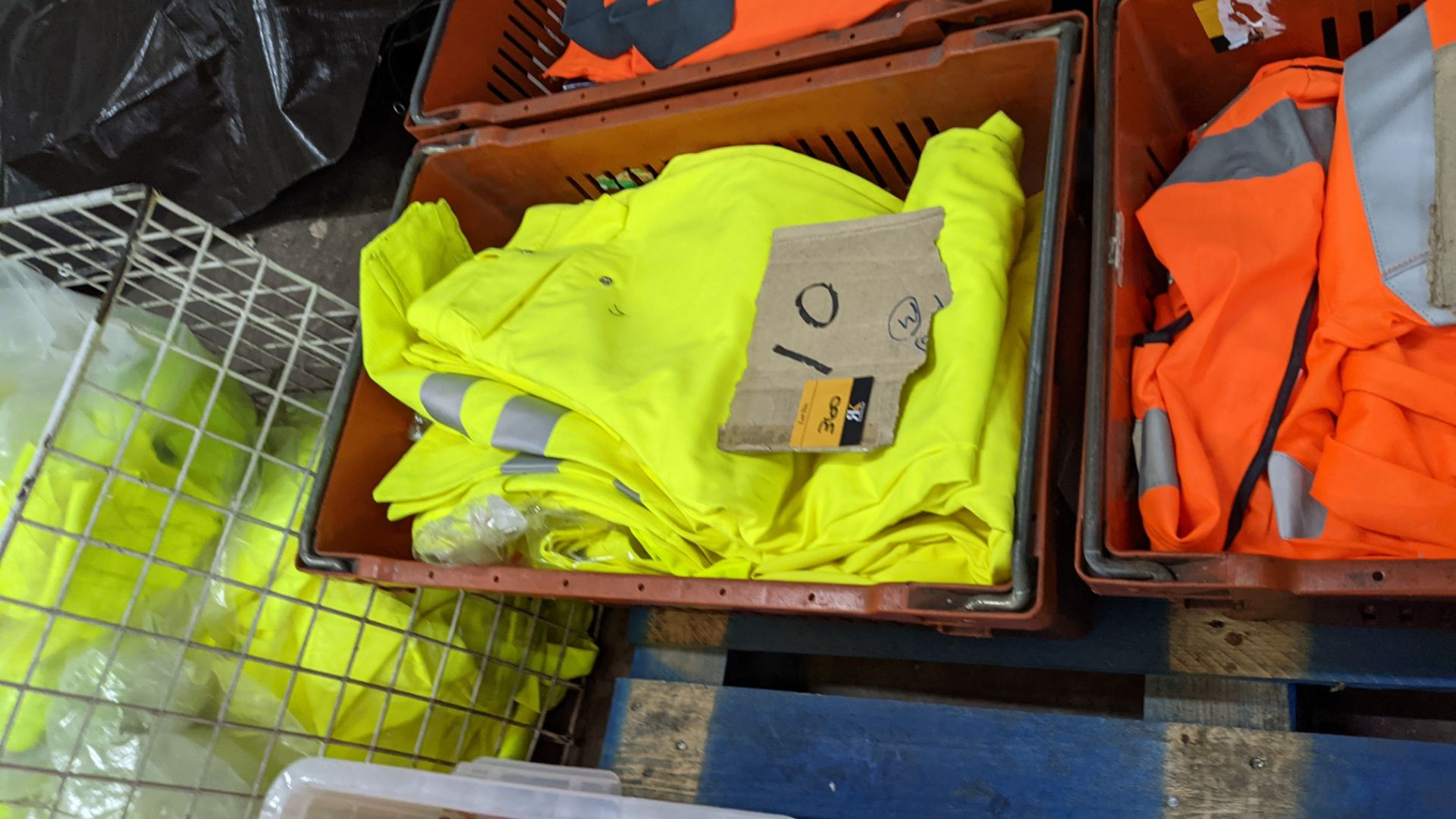 10 off hi-vis trousers in yellow & orange