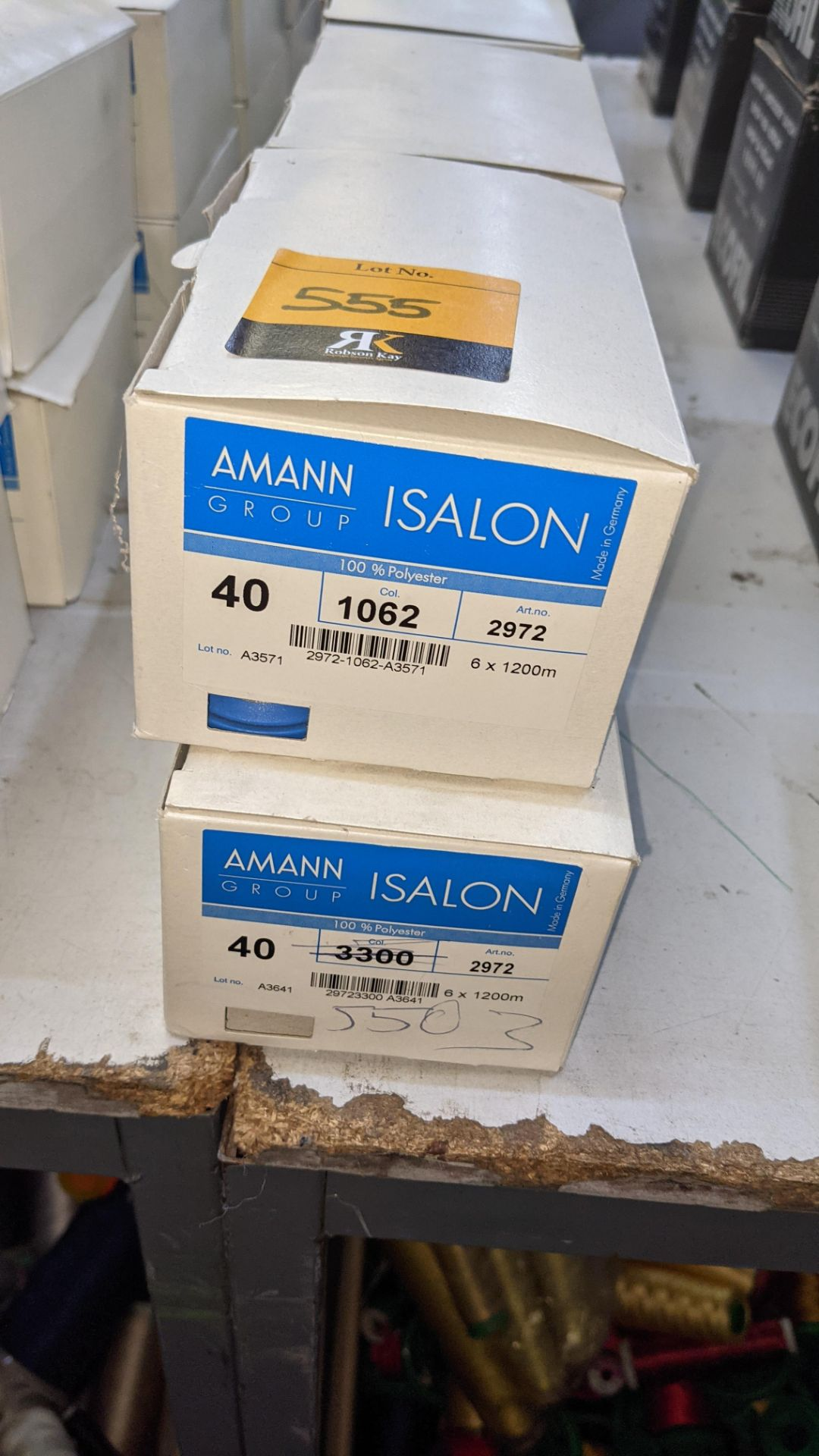 12 boxes of Amann Group ISALON 40 polyester embroidery thread - Image 3 of 9