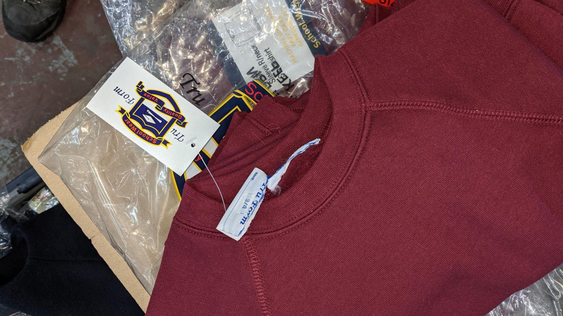 Approx 36 off children's burgundy sweatshirts - 1 large box - Image 3 of 4