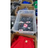 Approx 11 off Trutex children's navy button up sweatshirts/cardigans - the contents of 1 crate. NB