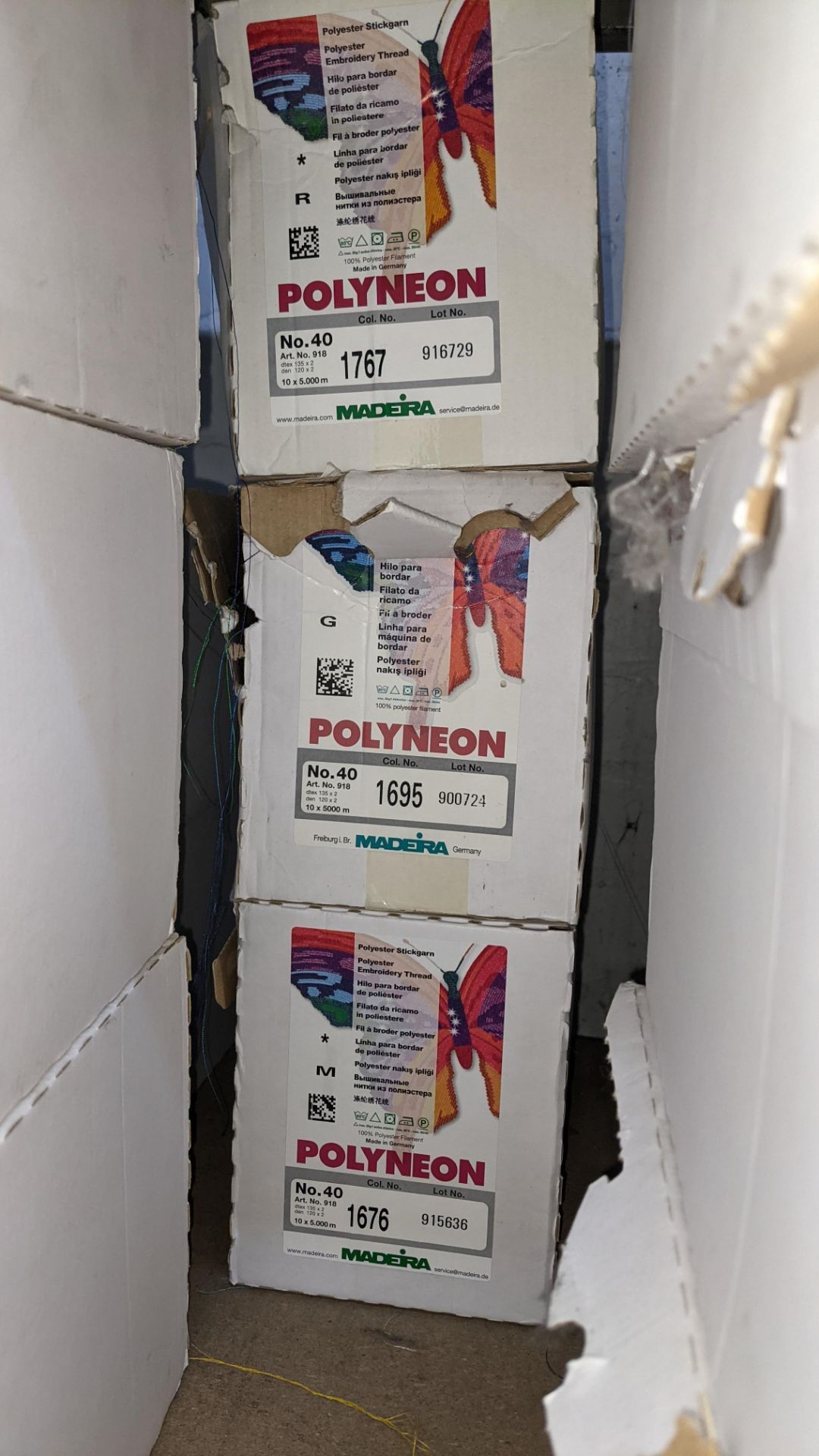 6 boxes of Madeira Polyneon No. 40 polyester embroidery thread - Image 4 of 7