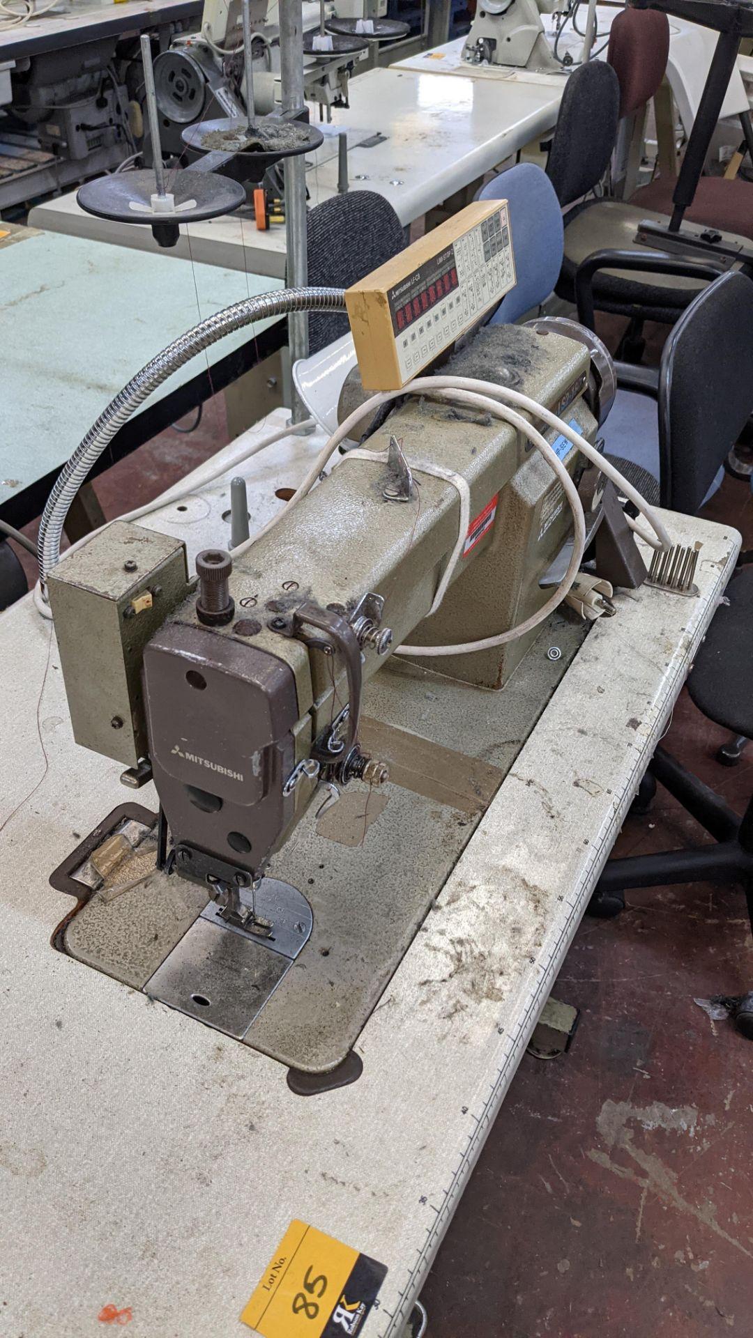 Mitsubishi LS2-180 sewing machine with Mitsubishi LF-C8 digital controller - Image 7 of 12
