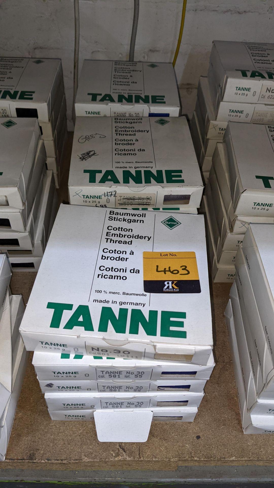15 boxes of Madeira Tanne (Burmit) cotton embroidery thread