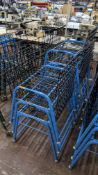7 off matching blue stacking Steely mobile machinists baskets