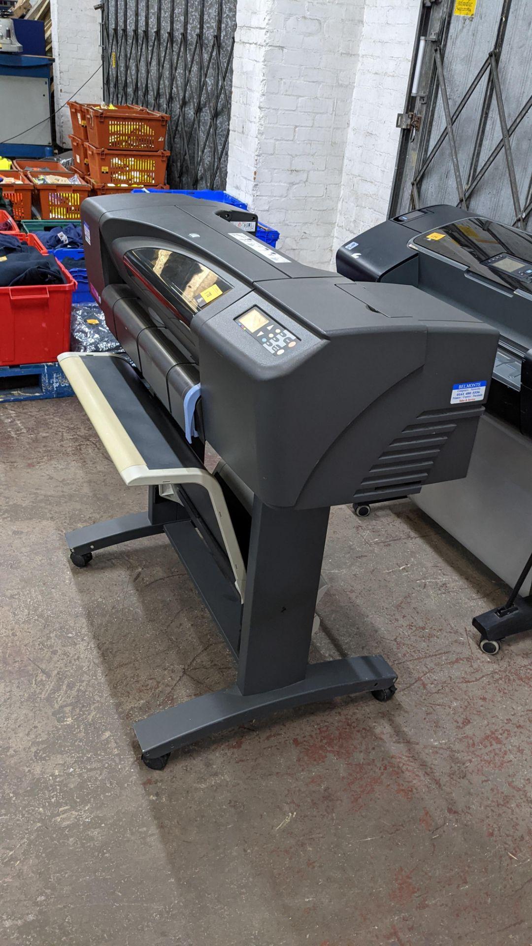 "HP DesignJet 800 wide format printer, factory model C7779B (24"") - Image 3 of 6"