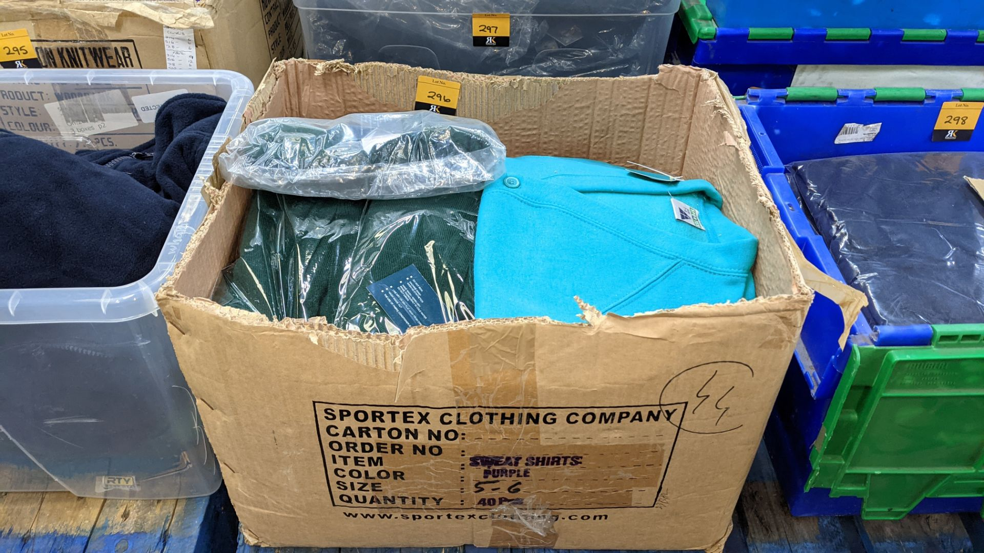 Approx 18 off Rowlinson children's green button up sweat tops - 1 large box - Image 2 of 6