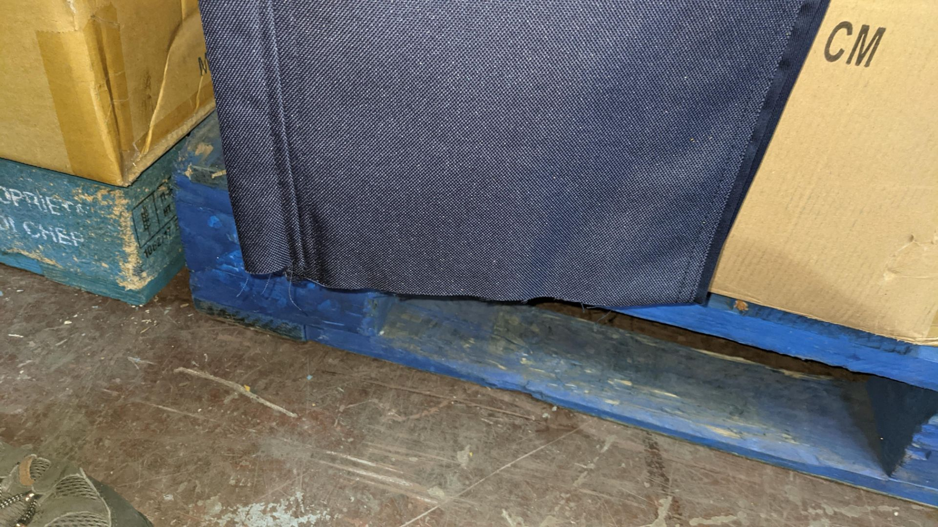Box of blue work trousers with silver stripes - Image 4 of 5