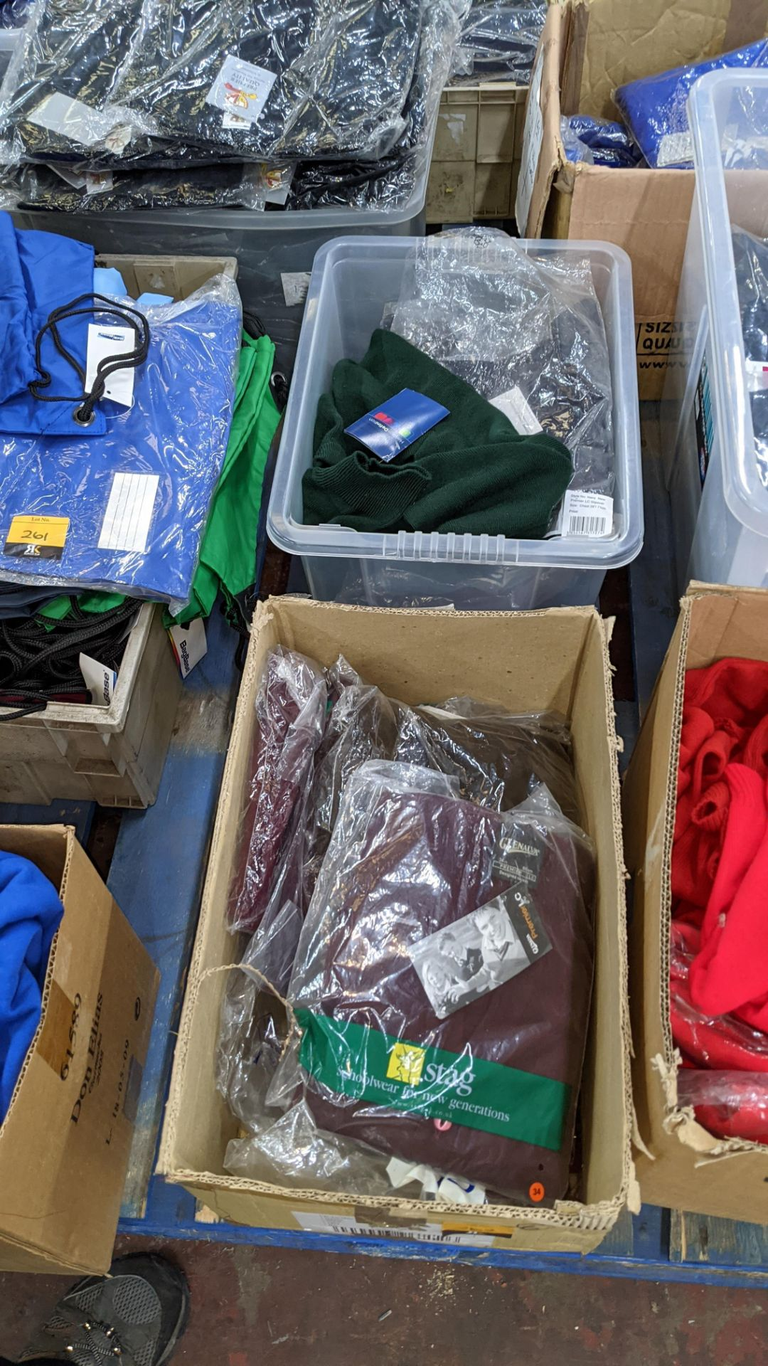 Quantity of assorted garments - the contents of 1 box & 1 crate. NB crate excluded - Image 8 of 8
