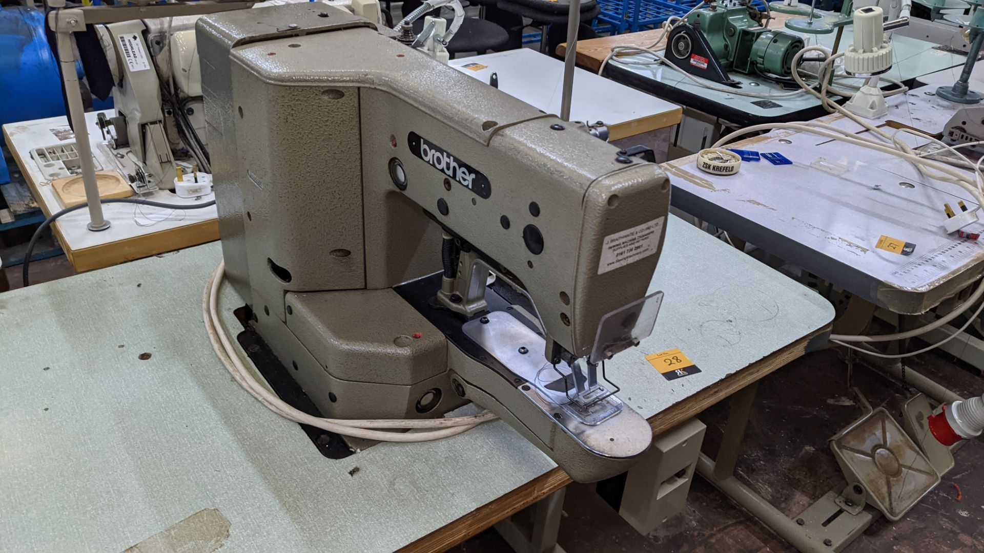 Brother bar tack sewing machine model LK3-B430-2 - Image 9 of 15