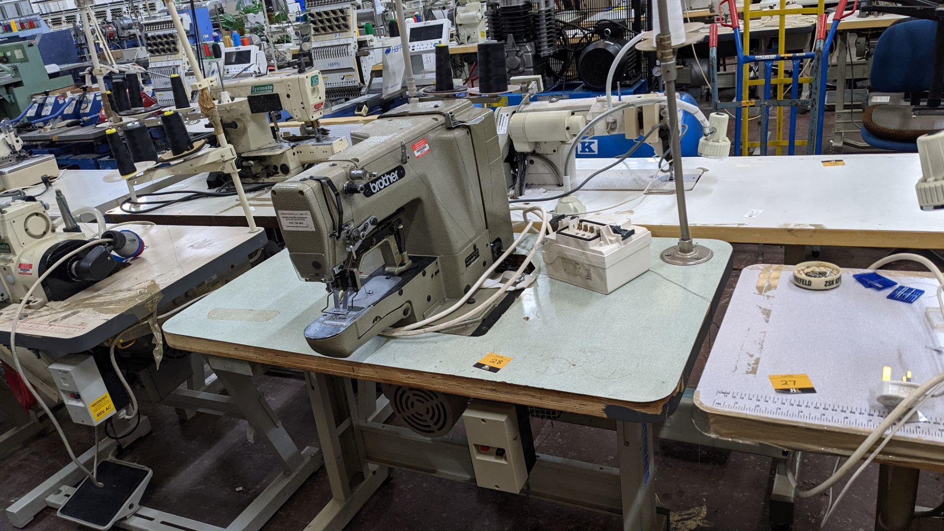 Brother bar tack sewing machine model LK3-B430-2 - Image 2 of 15