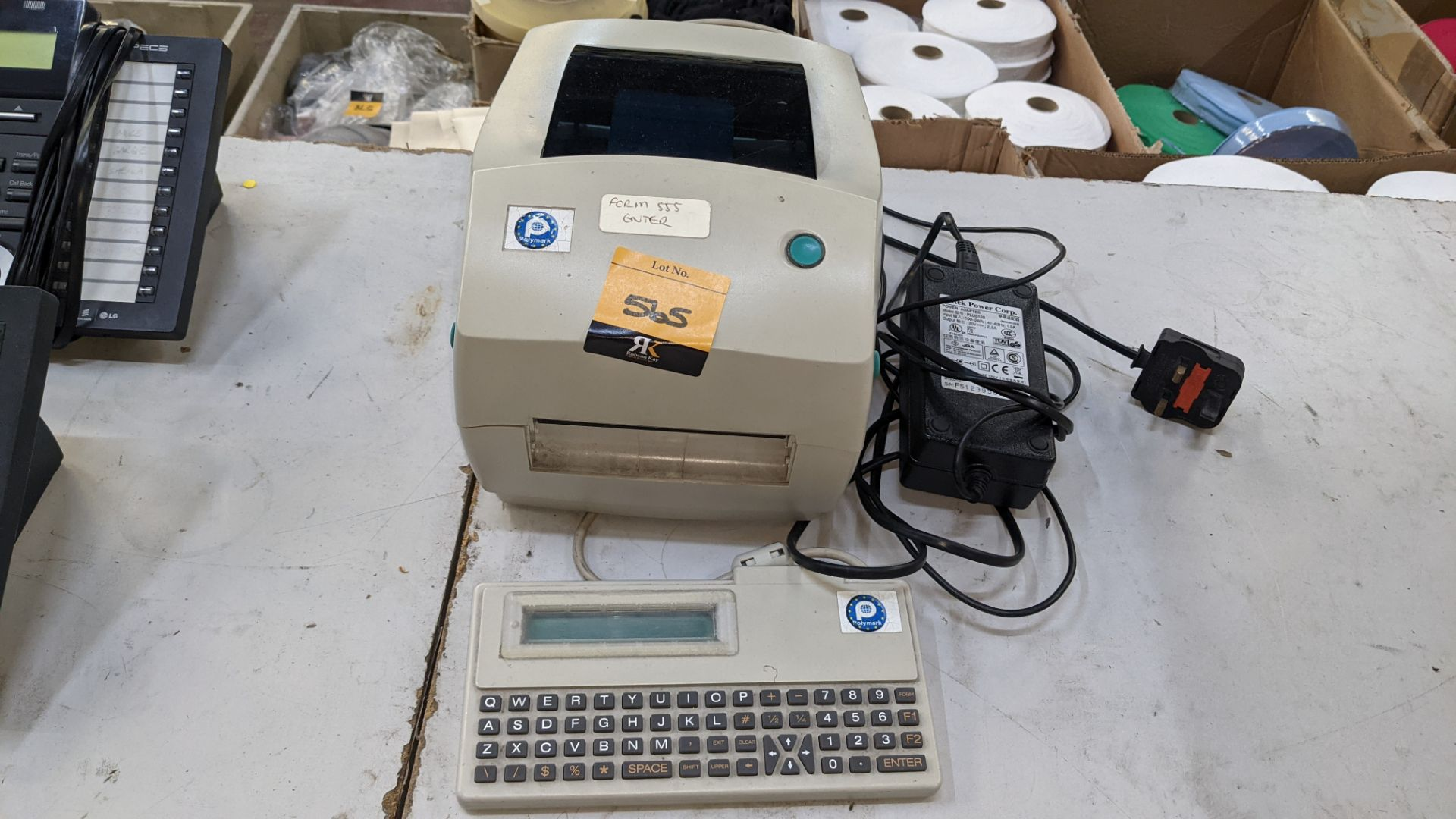 Label printer, model TLP2844 with keyboard & power pack - Image 2 of 6