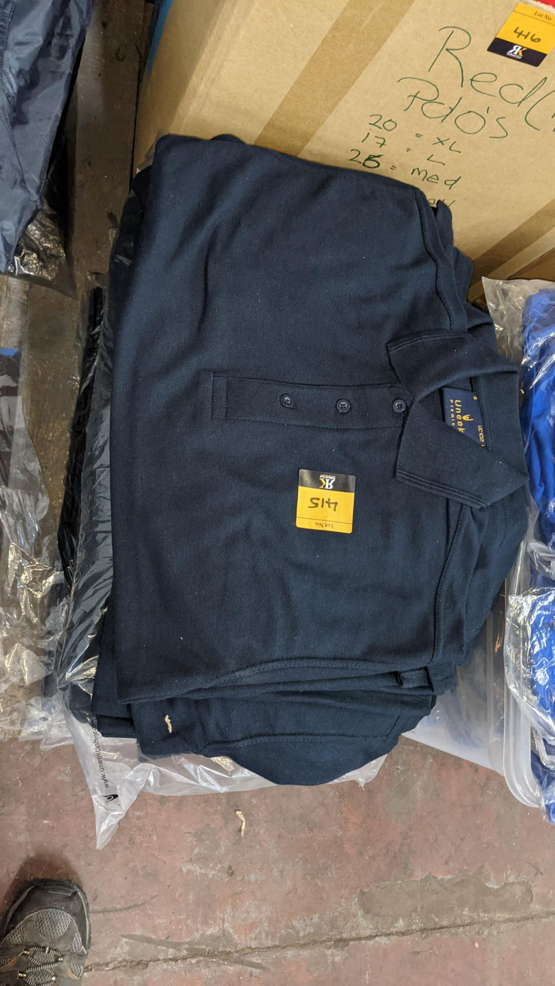 Approx 50 off Uneek dark blue polo shirts - Image 2 of 4
