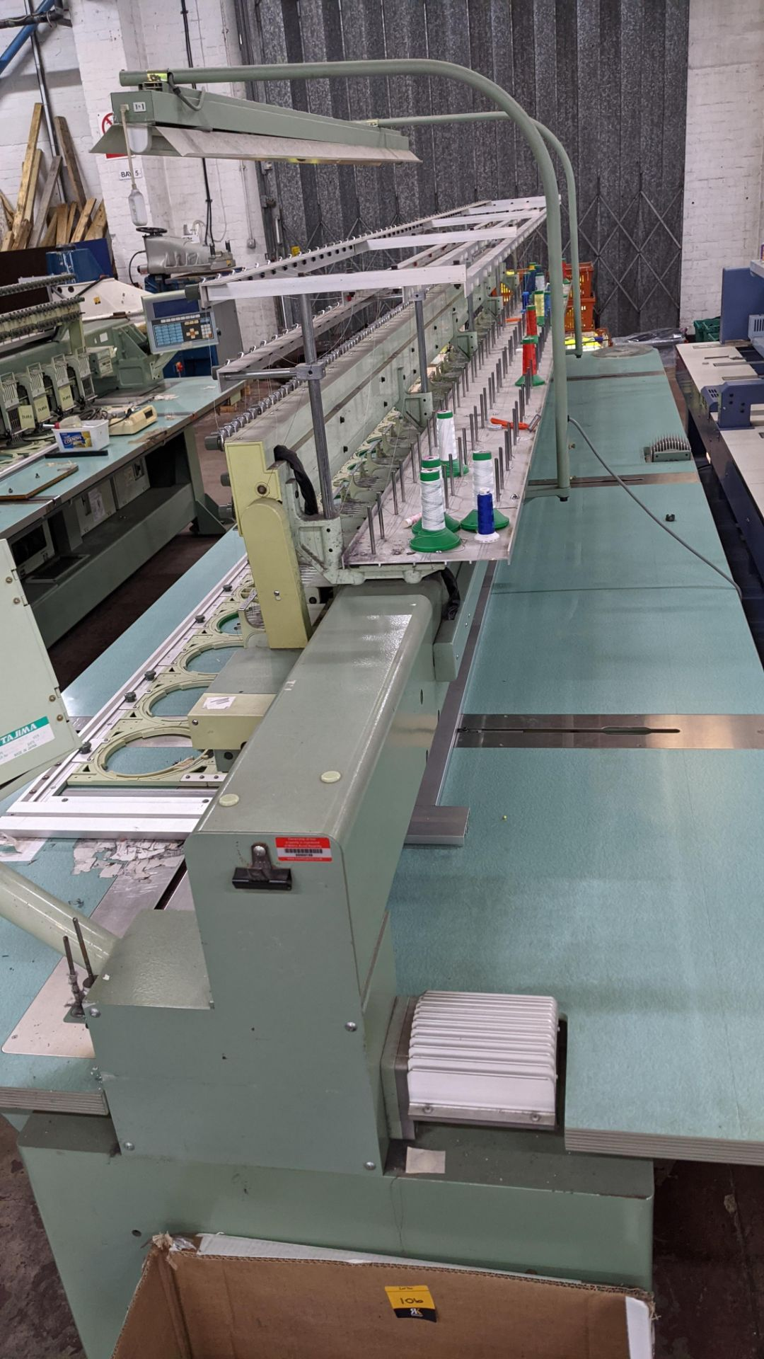 Tokai Tajima electronic 20 head automatic embroidery machine model TMEF-H620 - Image 25 of 25