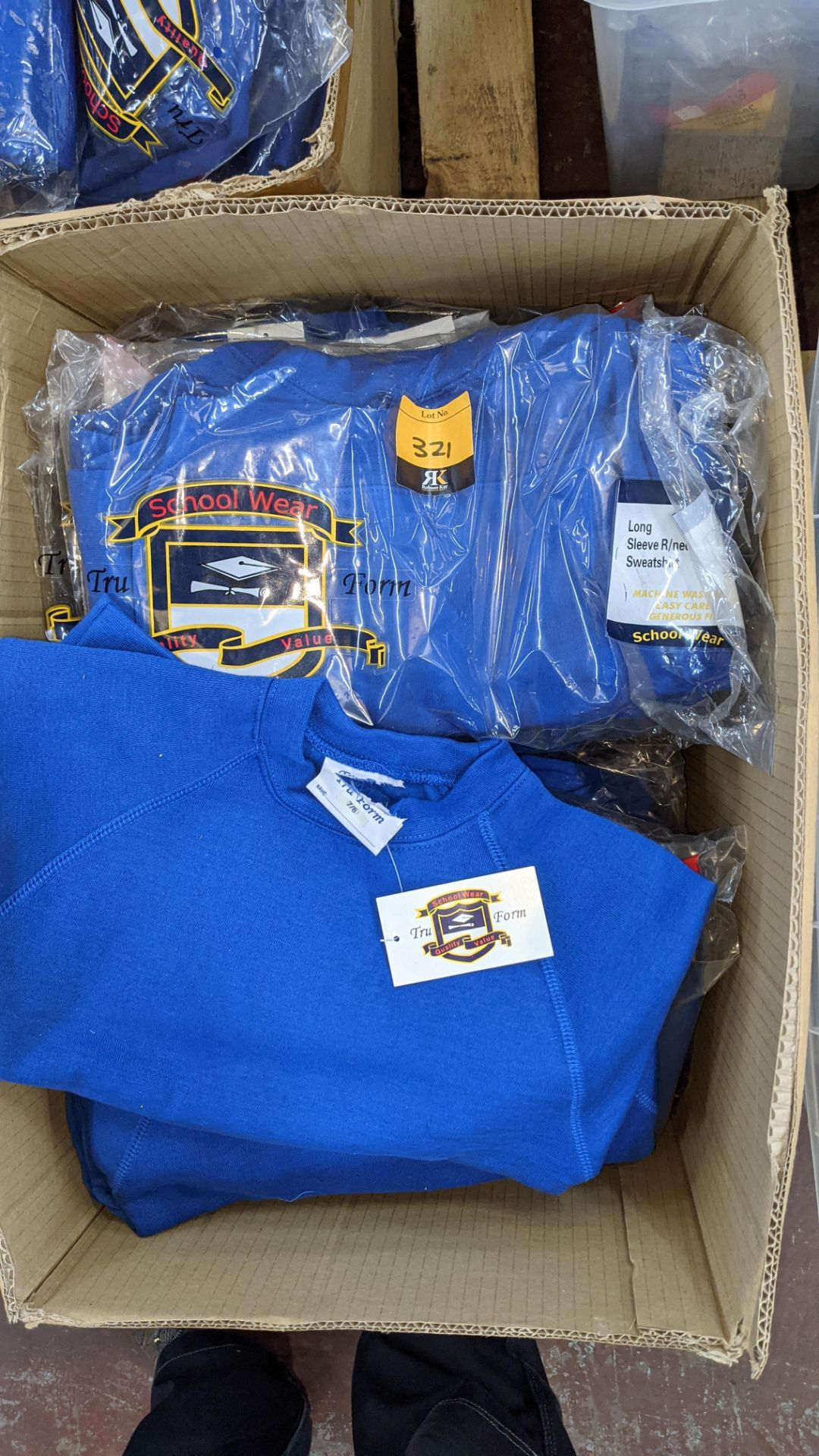 Approx 29 off blue children's sweatshirts & similar - the contents of 1 box - Image 4 of 4