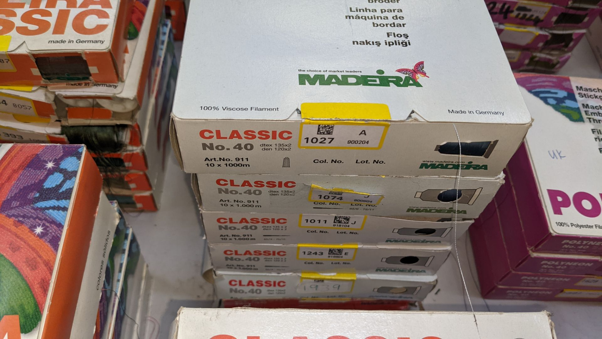 22 boxes of Madeira Classic No. 40 rayon embroidery thread - Image 6 of 11