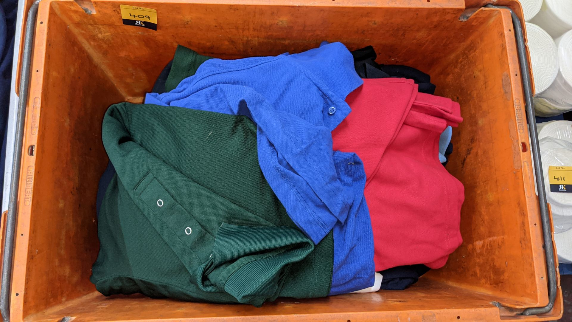 Quantity of assorted polo shirts & similar - the contents of 1 large crate - Image 3 of 5