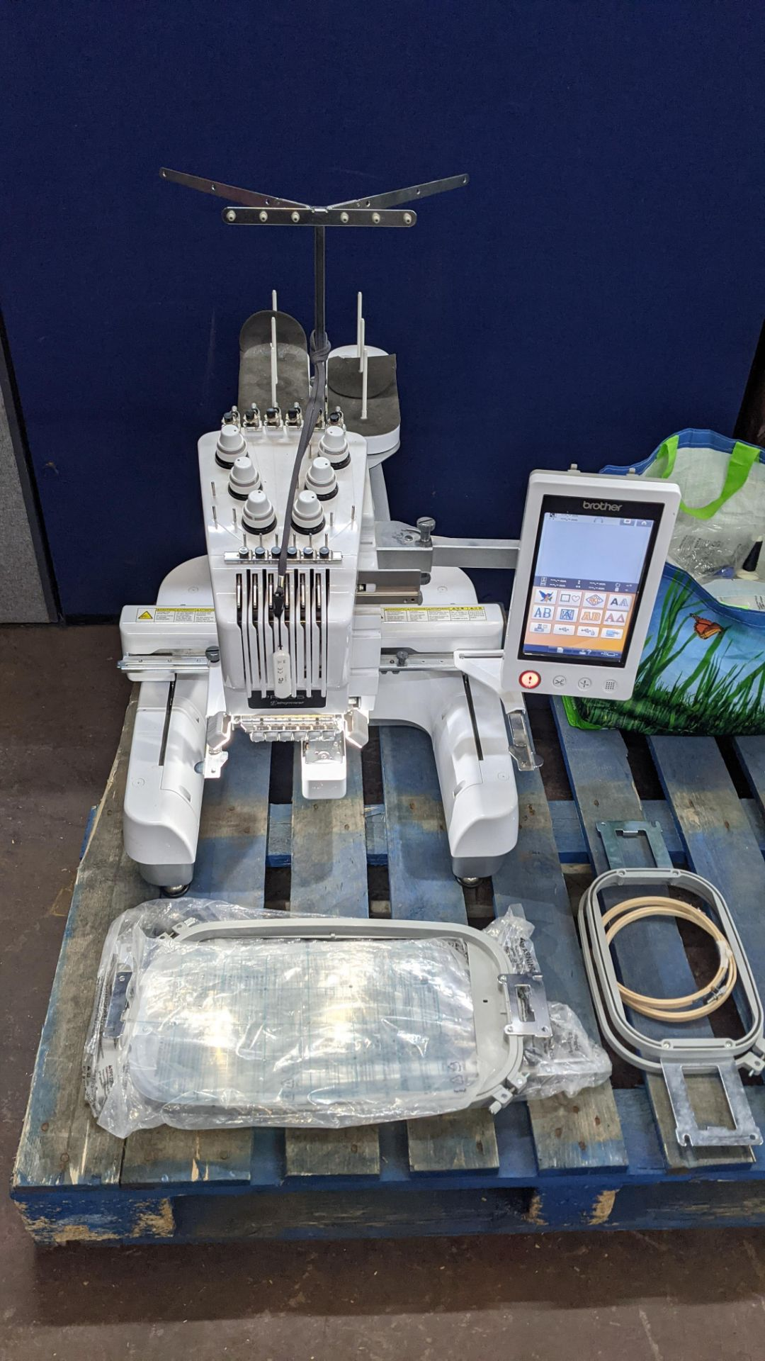 Brother PR655 single head 6 needle embroidery machine, serial no. E72364-D6B113501 incorporating lar - Image 6 of 25