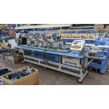 Barudan 4 head embroidery machine, model BEAT 804TYS, 7 needles per head, with SMT monogram system c