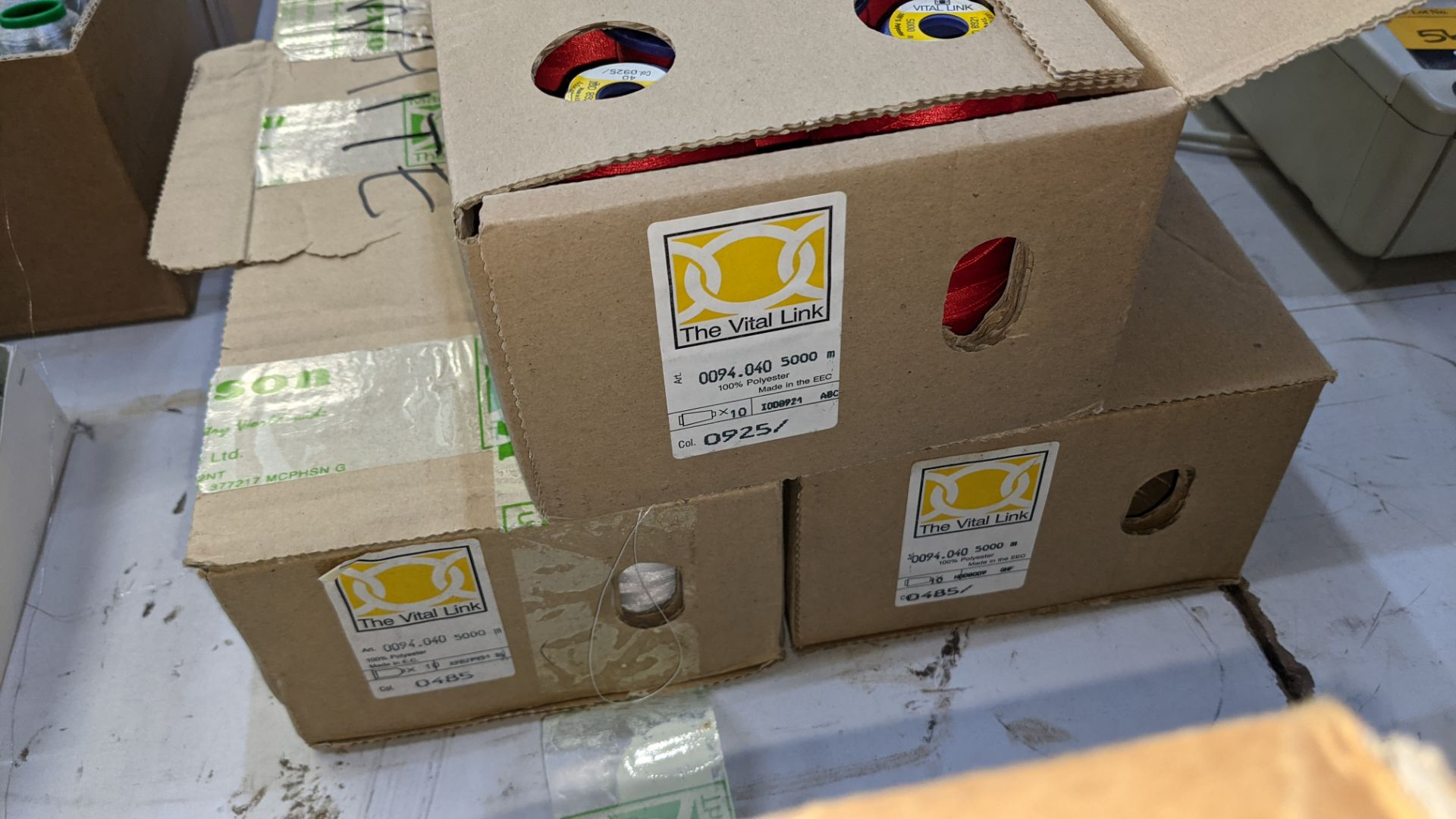 6 boxes of The Vital Link polyester embroidery thread - Image 7 of 7