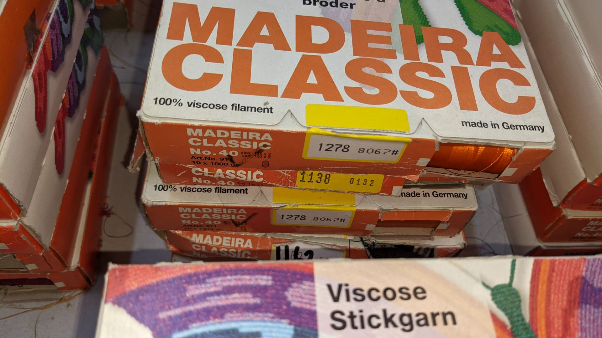 25 boxes of Madeira Classic No. 40 rayon embroidery thread - Image 5 of 12
