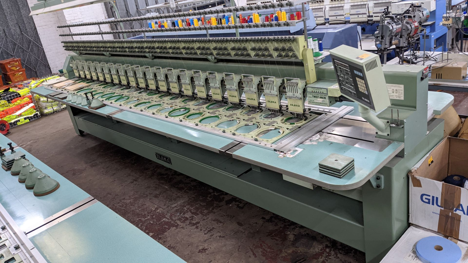 Tokai Tajima electronic 20 head automatic embroidery machine model TMEF-H620 - Image 2 of 25