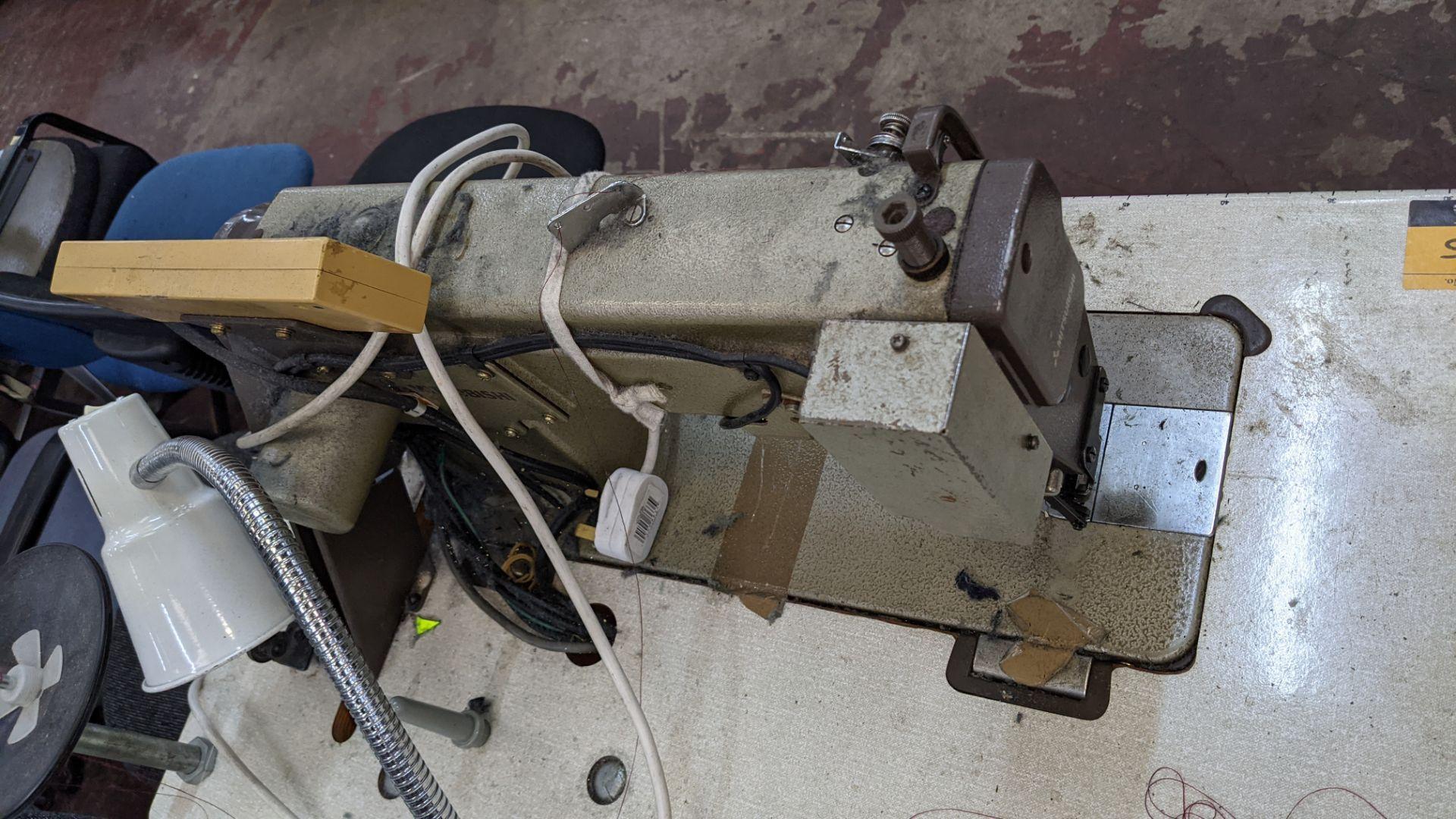Mitsubishi LS2-180 sewing machine with Mitsubishi LF-C8 digital controller - Image 8 of 12