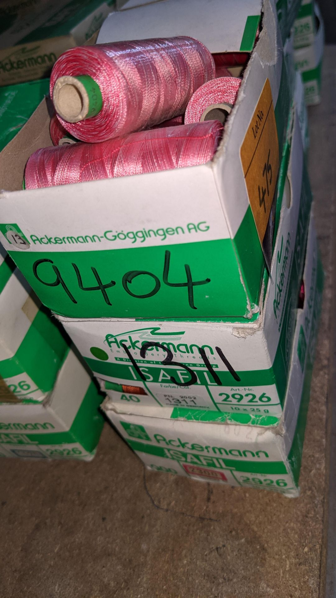 15 boxes of Ackermann Isafil viscose/rayon embroidery thread - Image 4 of 8
